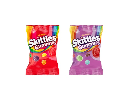 Original and Wild Berry Skittles Gummies